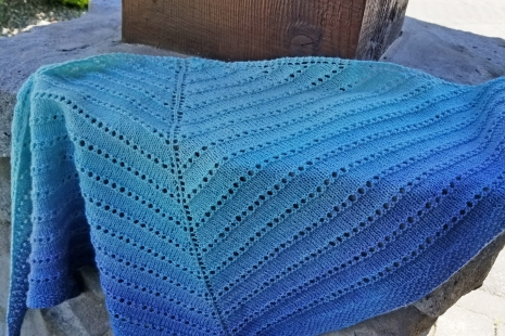 Shades of Blue shawl