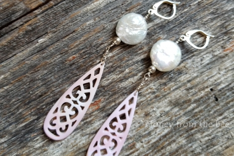boho pink earrings