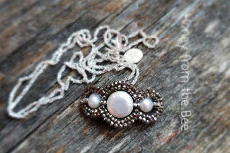 Marcasite and Pealr necklace