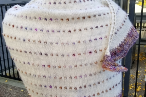 Berries and Cream shawl