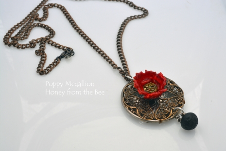 One of a kind Poppy Necklace