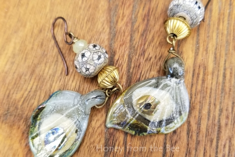 Fumed lampwork earrings