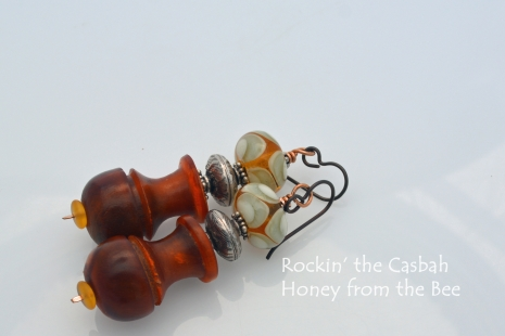 Topaz and silver earrings
