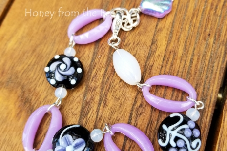 Black and Lavender bracelet