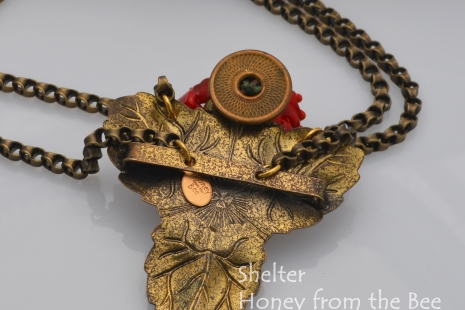 Back side of Poppy Necklace