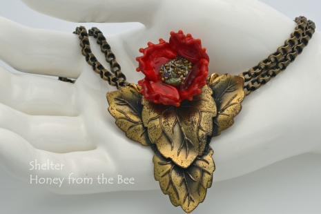 Upcycled buckle necklace