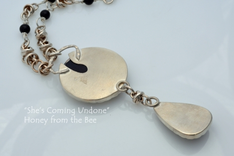Back of Sterling Silver statement necklace