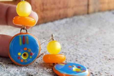 Bright artisan earrings