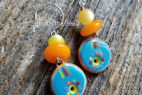 bright color earrings