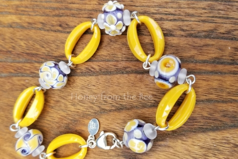 Sunshine and lavender bracelet