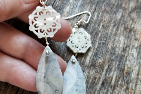Orbicular Rhyolite earrings