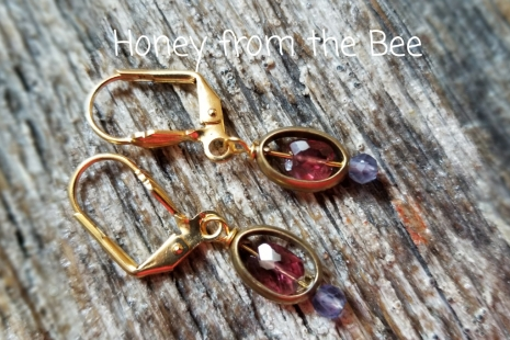 Amethyst and iolite earrings