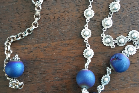 Concho style necklace