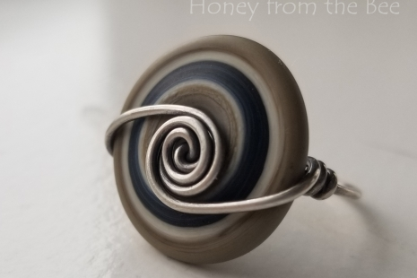 Silver wire work ring