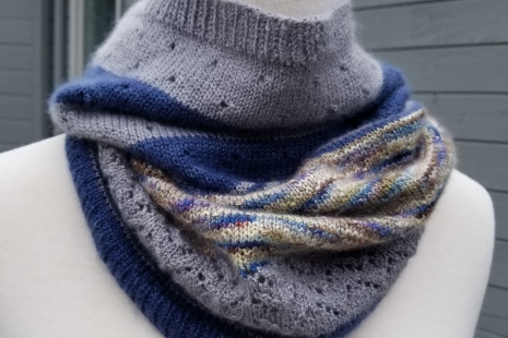 Blue and Grey Scarf