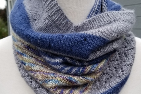 Blue and Grey cashmere Scarf