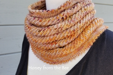 Orange and purple scarf