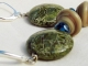 Green Lace Agate earrings, copyright Honey from the Bee