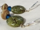 Forest green Earrings, copyright Honey from the Bee