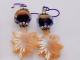 Artisan Earrings in purple and cream, copyright Honey from the Bee