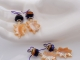Mother of Pearl Leaf Earrings, copyright Honey from the Bee