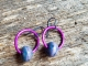 Purple Artisan earrings