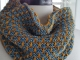 Denim hand knit cowl