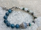 Dark teal and grey bracelet