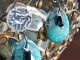 Turquoise and silver earrings