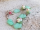 Celadon and Rose bracelet
