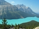 Glacial lake in Rockies, Canada