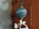 Lampwork and shells artisan pendant