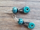 Teal artisan earrings