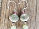 Pink and Green artisan earrings