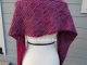 Fuschia and grey scarf