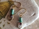 Boho turquoise earrings