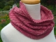 Pink knitted cowl