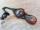 Bead Embroidered pendant