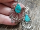 Turquoise and Mexican silver earrings