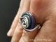 Silver and Lampwork ring