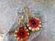 Red Poppy Artisan Earrings