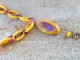 Purple and Yellow Lampwork necklace