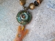 Amber and Green Boho necklace