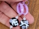 Lavender Lampwork earrings