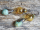 amber and turquoise earrings