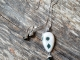 Green and White artisan necklace