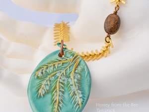 Autumn Tamarack Necklace, copyright Honey from the Bee