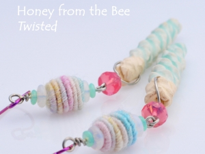 Pastel Artisan earrings, copyright Honey from the Bee