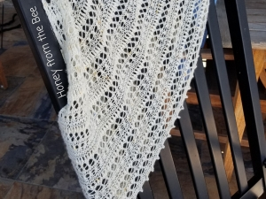 White lace cowl
