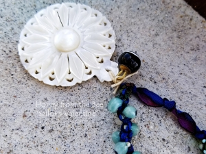 Mother of Pearl focal necklace